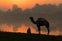 Sunrise on the Yamuna River